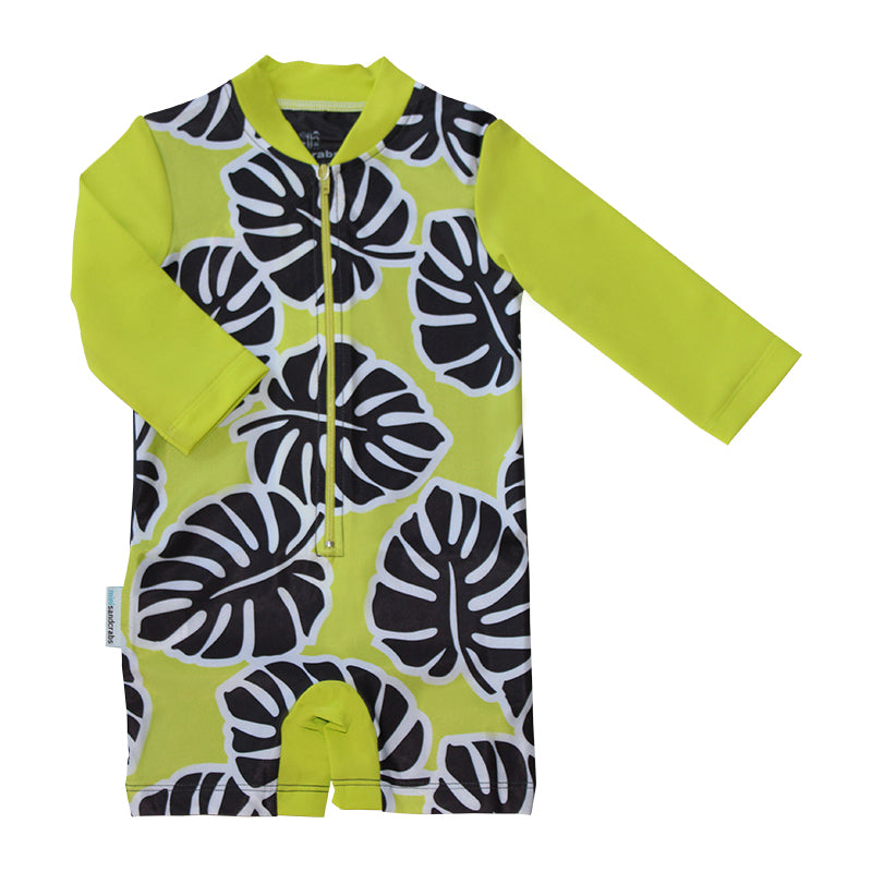 Long Sleeve Sunsuit - Hot Tropics