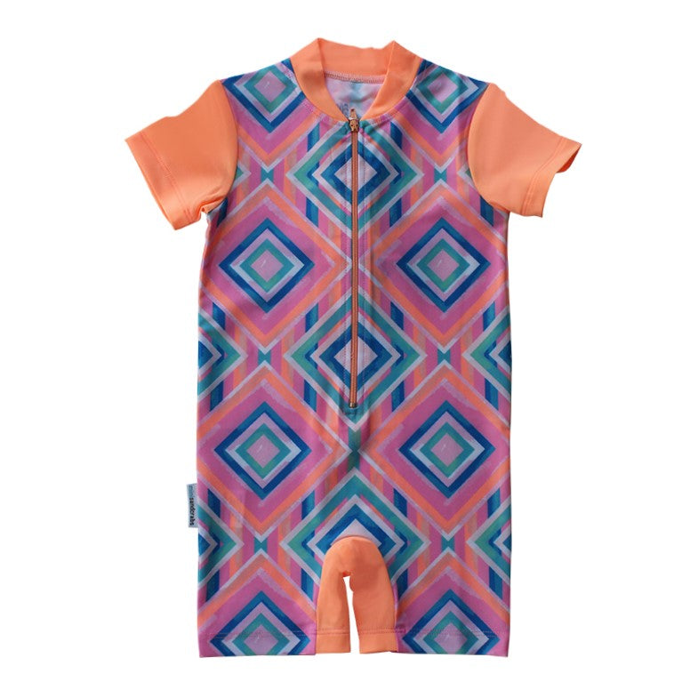 Short Sleeve Sunsuit - Beach Tribe