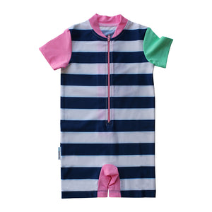 Short Sleeve Sunsuit - Girls Sport