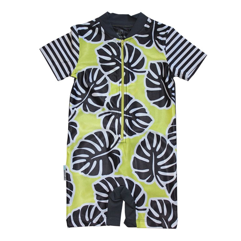 Short Sleeve Sunsuit - Hot Tropics