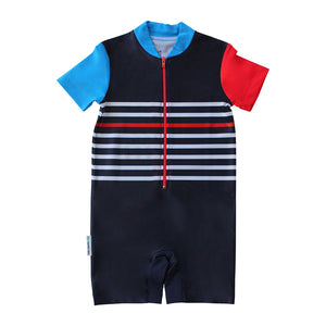 Short Sleeve Sunsuit - Boys Sport