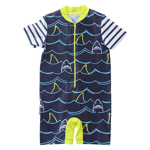 Short Sleeve Sunsuit - Shark Mania