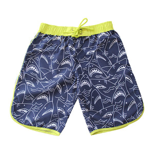Long Scoop Boardshorts - Shark Mania Senior
