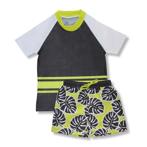 Short Sleeve Classic Rashie - Hot Tropics Junior