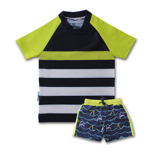 Mid Length Boardshorts - Shark Mania Junior