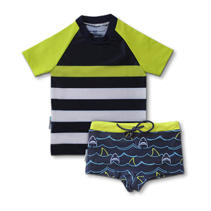 Short Sleeve Classic Rashie - Shark Mania Junior