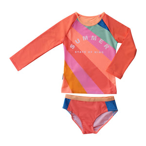Long Sleeve Two piece set - Offbeat Rainbow Senior