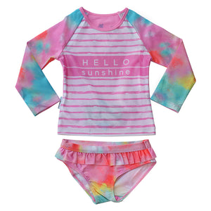 Long Sleeve Two piece set - Tie Dye Love Junior
