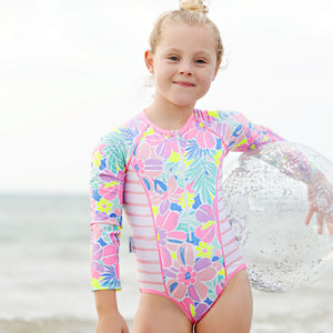 Long Sleeve Zip One Piece - Girls Island Life Junior