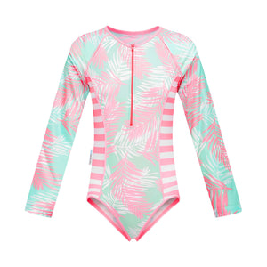 Long Sleeve Zip One Piece - Island Life Girls Senior