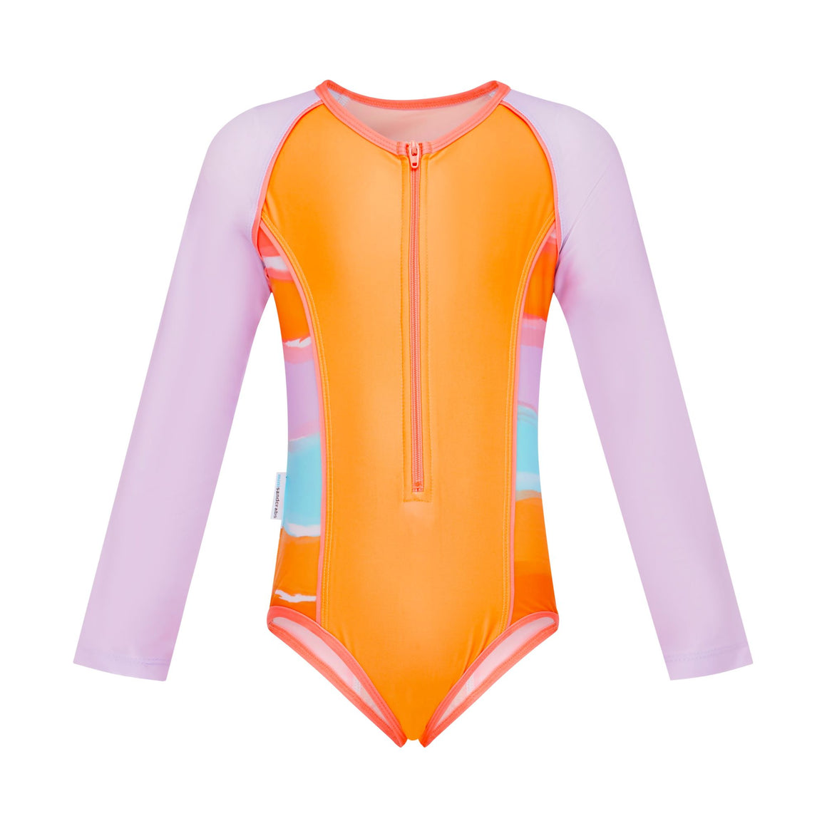 Long Sleeve Zip One Piece - Girls Retro Vibes Junior
