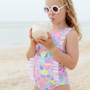 Ruffle One Piece Swimsuit - Island Life Girls Junior