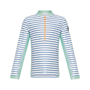 Long Sleeve Zip Rashie - Boys Retro Vibes Junior