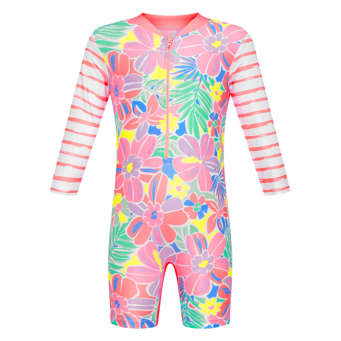 Long Sleeve Sunsuit - Girls Island Life