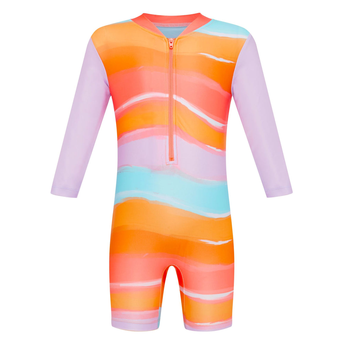 Long Sleeve Sunsuit - Girls Retro Vibes