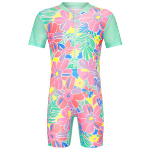 Short Sleeve Sunsuit - Girls Island Life