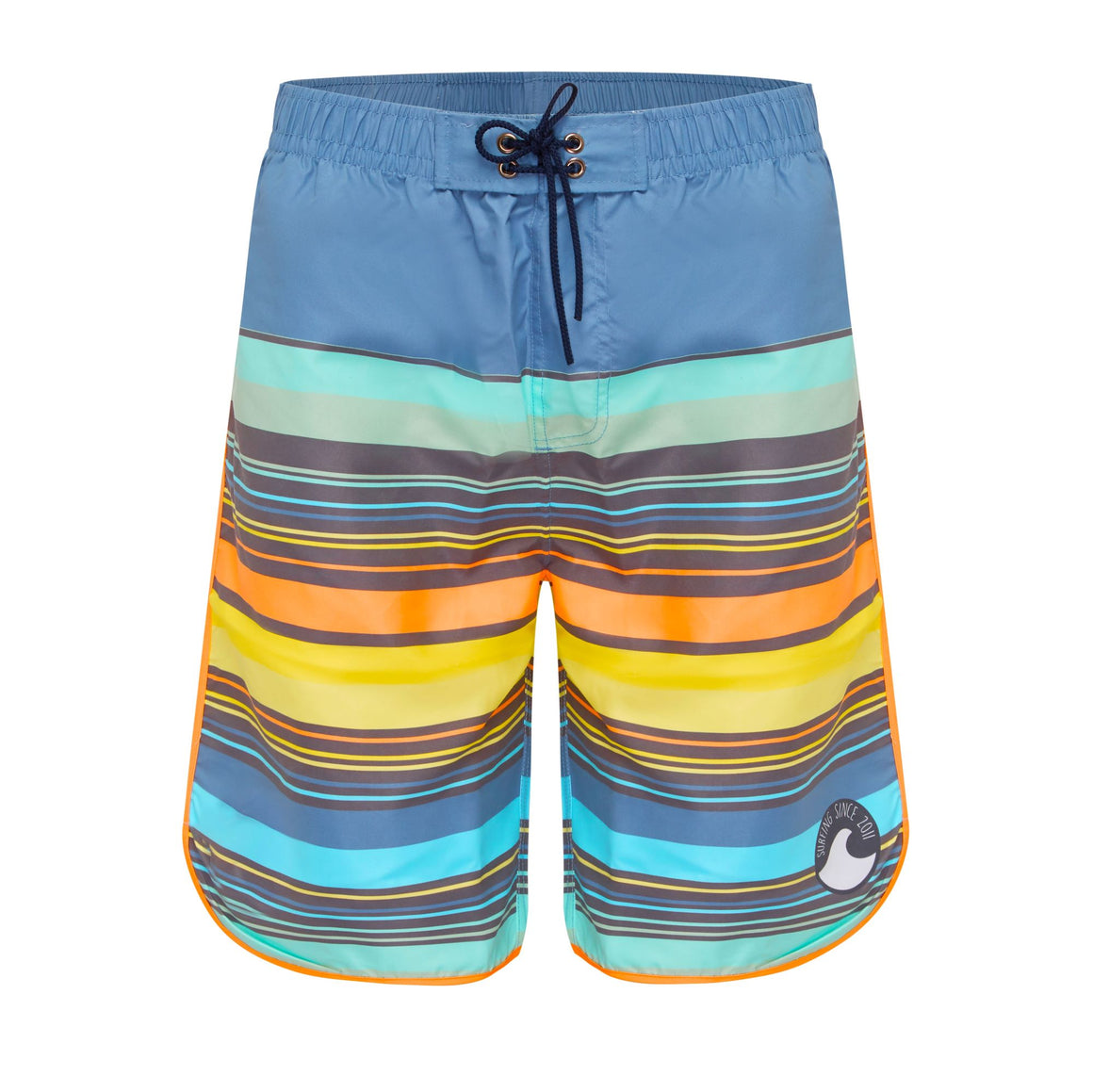 Long Scoop Boardshorts - Boys Retro Vibes Senior