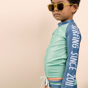 Long Sleeve Classic Rashie - Boys Retro Vibes Junior