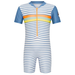 Short Sleeve Sunsuit - Boys Retro Vibes