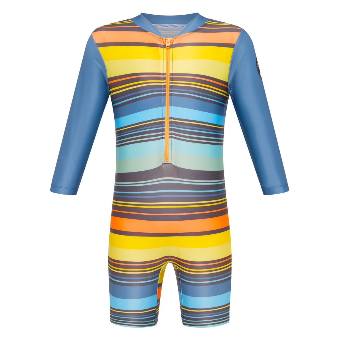 Long Sleeve Sunsuit - Boys Retro Vibes