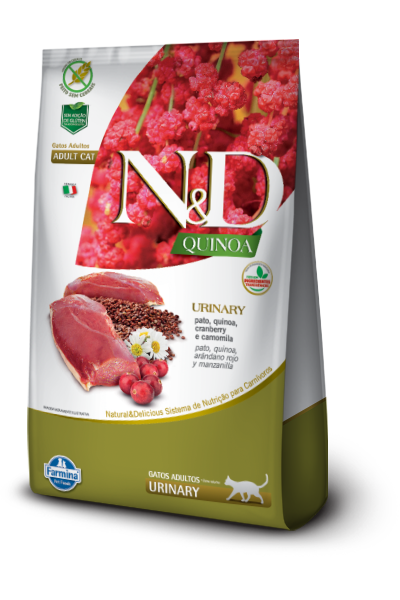 Ração Farmina N&D Quinoa Urinary Gatos Adulto Sabor Pato