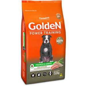 Ração Golden Power Training Cães Adultos Sabor Frango e Arroz