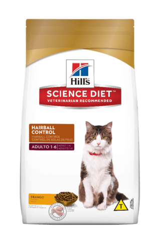 Ração Hill´s Science Diet Hairball Control Gatos Adultos