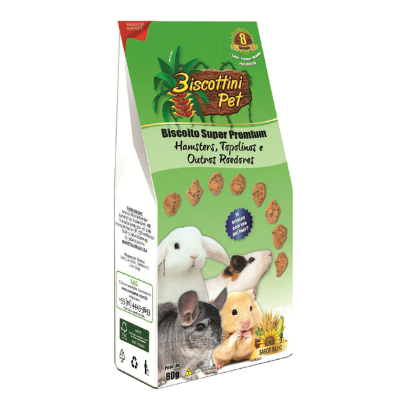 Biscoito Biscottini Pet Super Premium Para Hamsters - 80g