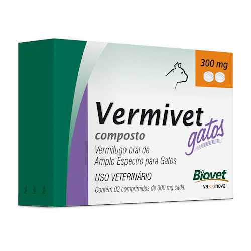 Biovet Vermivet Composto 300mg Gatos