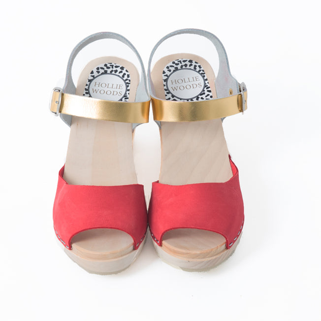 Red and gold sandal