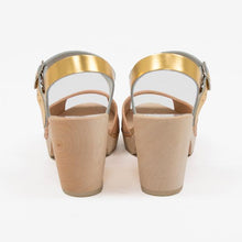Beige and gold sandal