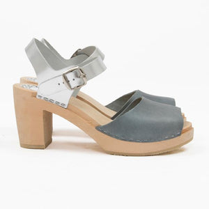 Grey and silver sandal