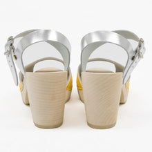 Yellow and silver sandal