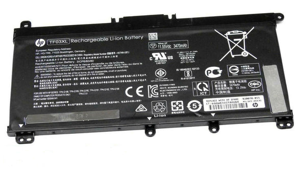 3Cell 11.55V 41.9Wh HP TPN-C131 TPN-Q188 TPN-Q189 Series Laptop Battery