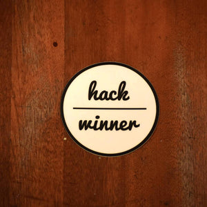 """Hack Winner"" Sticker"
