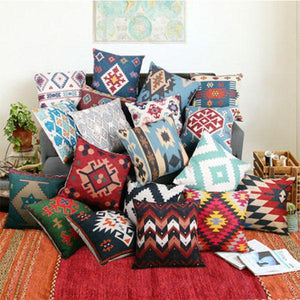 Ethnic Style Cotton And Linen Pillowcase