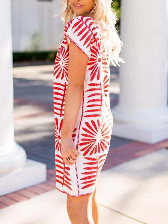 Casual Straight Print Dress