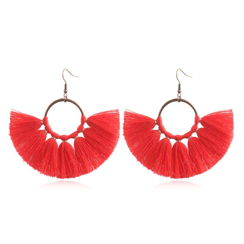 Fashion Creative Handmade Fan-Fringed Earrings