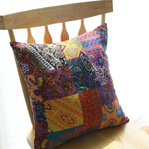 Vintage Bohemian National Wind Cotton Pillow Cushion Pillowcase