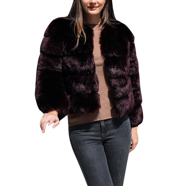 Imitation Fur Co Thick Warm Co