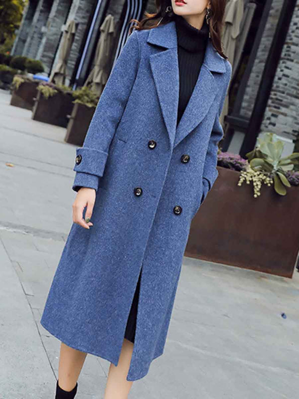 Long woolen coat
