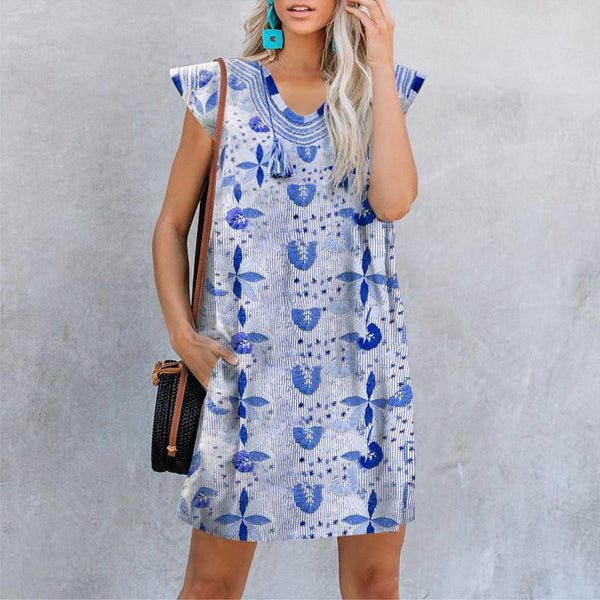 Fashion Vintage Print Dress