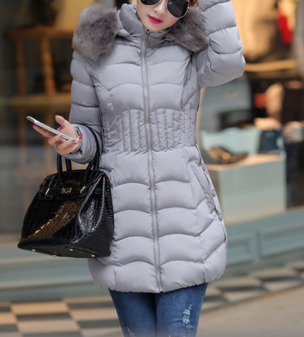 Fashion Pure Color Slim fit Cotton Coat