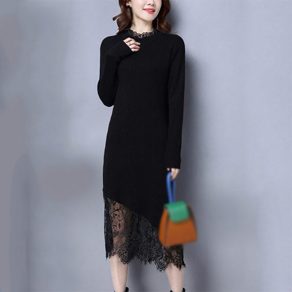Fashion Lace Long Sleeve Dress