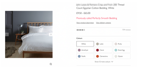 what is egyptian cotton bedding?
