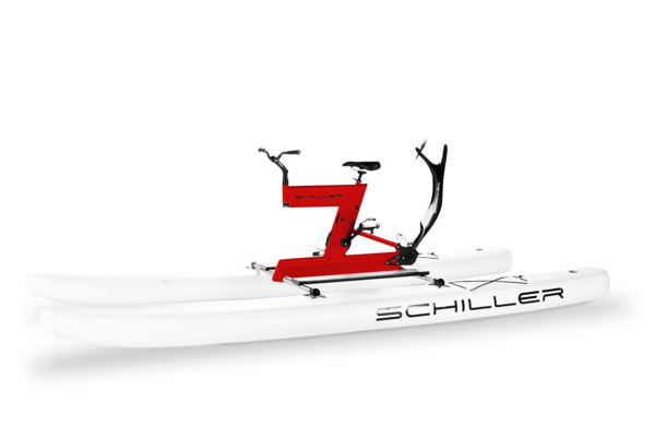 Schiller S1-C Red Frame on White Pontoons