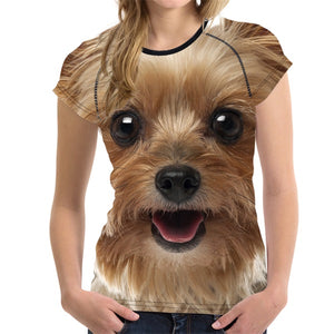 Designer Funny 3D Dog Yorkshire Terrier T Shirt - BluebirdGear™