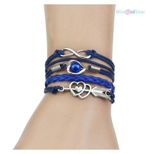 "<span style=""color:#990000;"">🌟</span> Multi-Strands Infinity Leather Bracelet - BluebirdGear™"