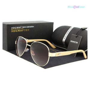 "<span style=""color:#990000;"">👓</span>  Brand Designer Women Wooden Sunglasses - BluebirdGear™"