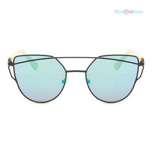 "<span style=""color:#990000;"">👓</span> Cat Eye Wood Bamboo Sunglasses - BluebirdGear™"